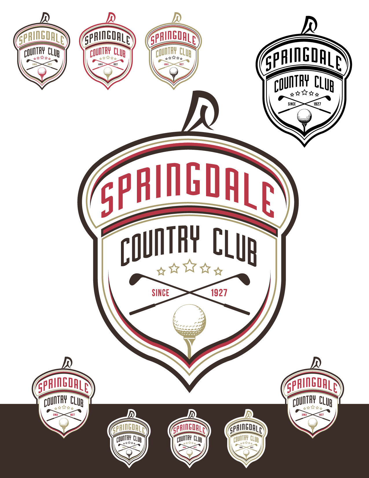 Logo Design by Jesus P Quiroga - Entry No. 84 in the Logo Design Contest Unique Logo Design Wanted for Springdale Country Club.