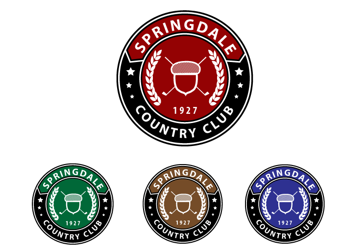 Logo Design by Jan Chua - Entry No. 96 in the Logo Design Contest Unique Logo Design Wanted for Springdale Country Club.