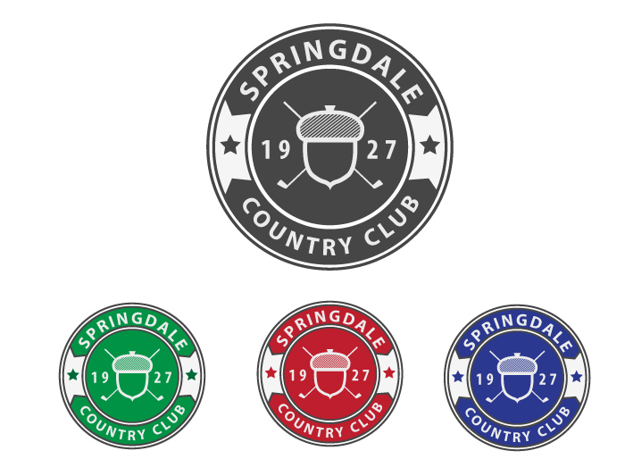 Logo Design by Jan Chua - Entry No. 97 in the Logo Design Contest Unique Logo Design Wanted for Springdale Country Club.