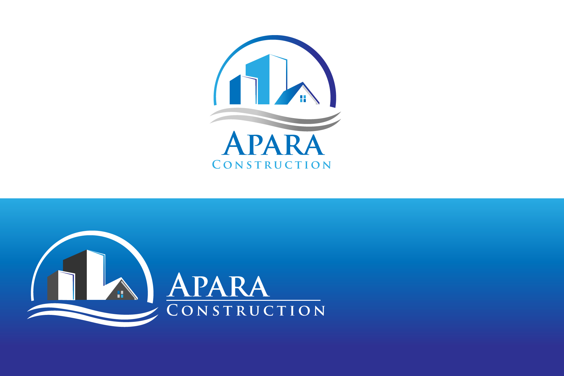 Logo Design by Jagdeep Singh - Entry No. 48 in the Logo Design Contest Apara Construction Logo Design.