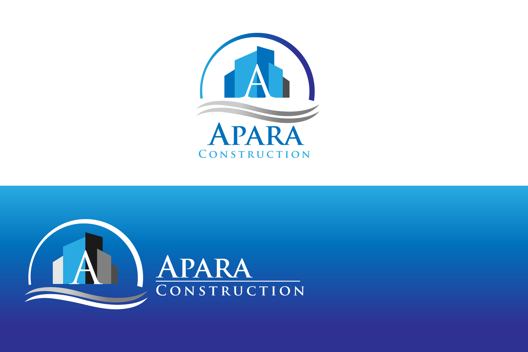 Logo Design by Jagdeep Singh - Entry No. 49 in the Logo Design Contest Apara Construction Logo Design.