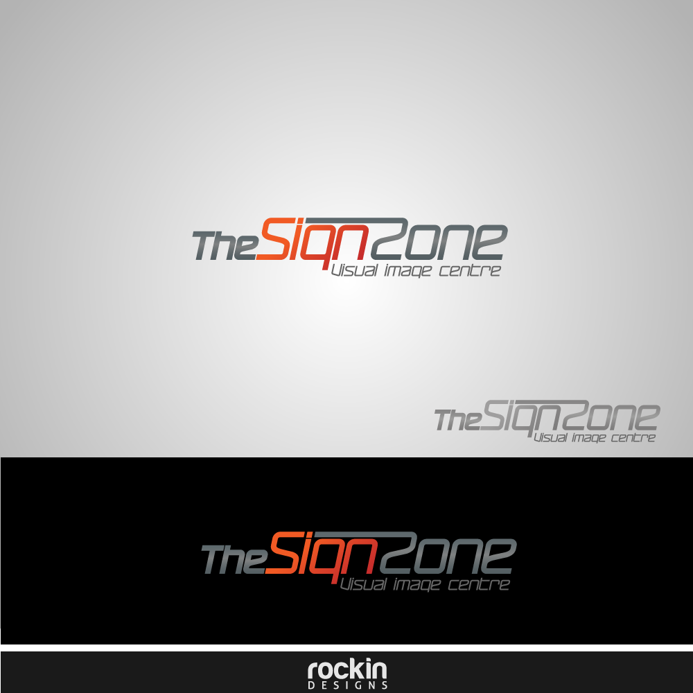 Logo Design by rockin - Entry No. 15 in the Logo Design Contest Fun Logo Design for The Sign Zone.
