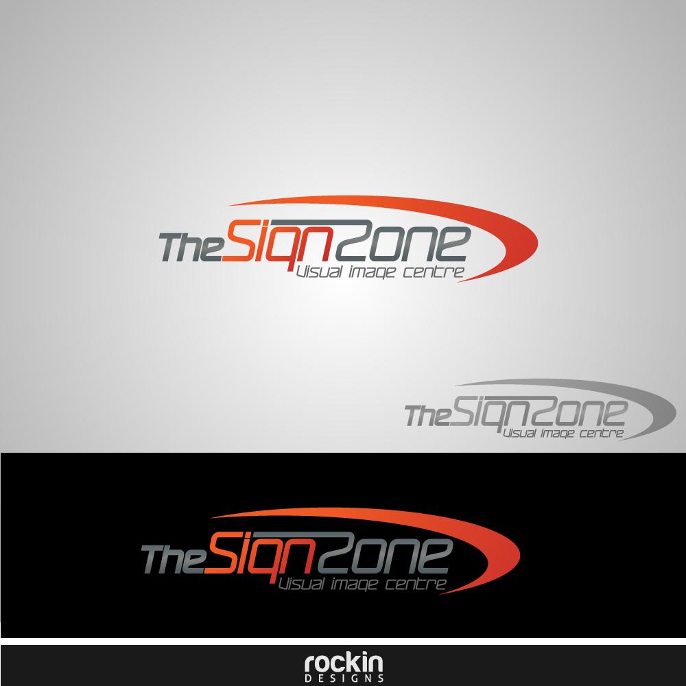 Logo Design by rockin - Entry No. 16 in the Logo Design Contest Fun Logo Design for The Sign Zone.