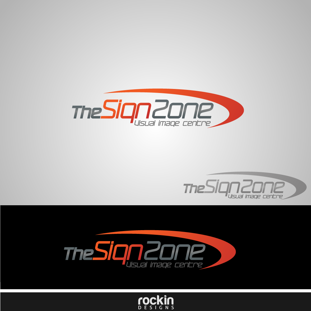Logo Design by rockin - Entry No. 17 in the Logo Design Contest Fun Logo Design for The Sign Zone.