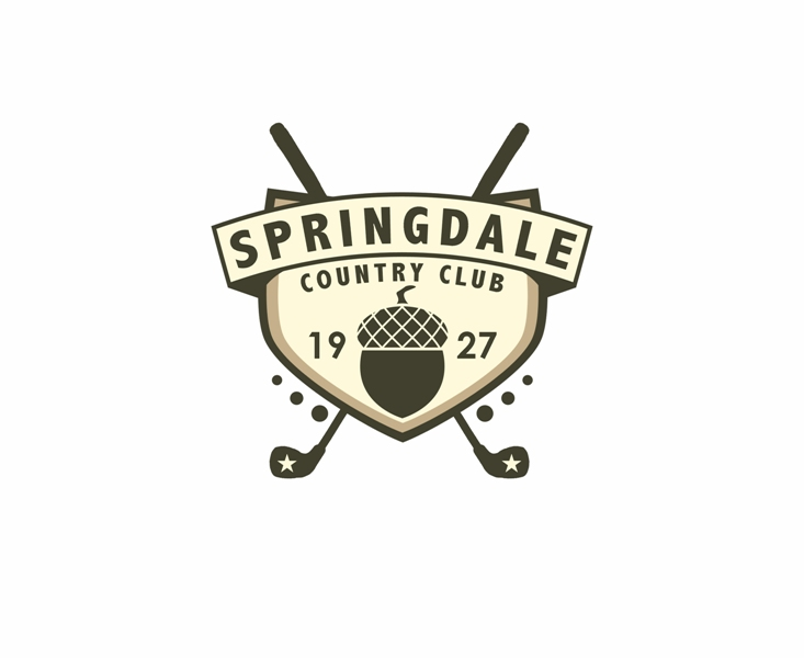 Logo Design by Juan_Kata - Entry No. 113 in the Logo Design Contest Unique Logo Design Wanted for Springdale Country Club.