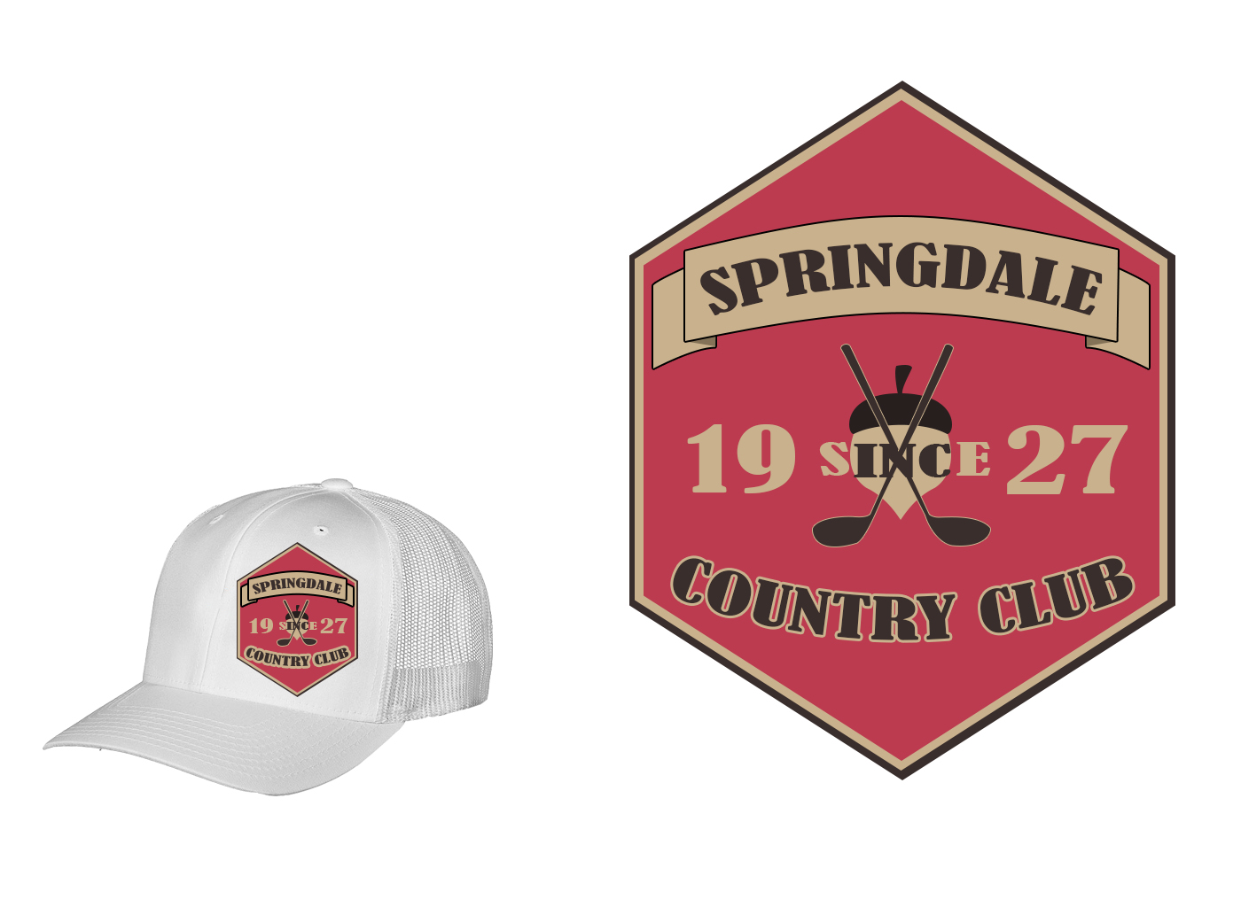 Logo Design by drunkman - Entry No. 117 in the Logo Design Contest Unique Logo Design Wanted for Springdale Country Club.
