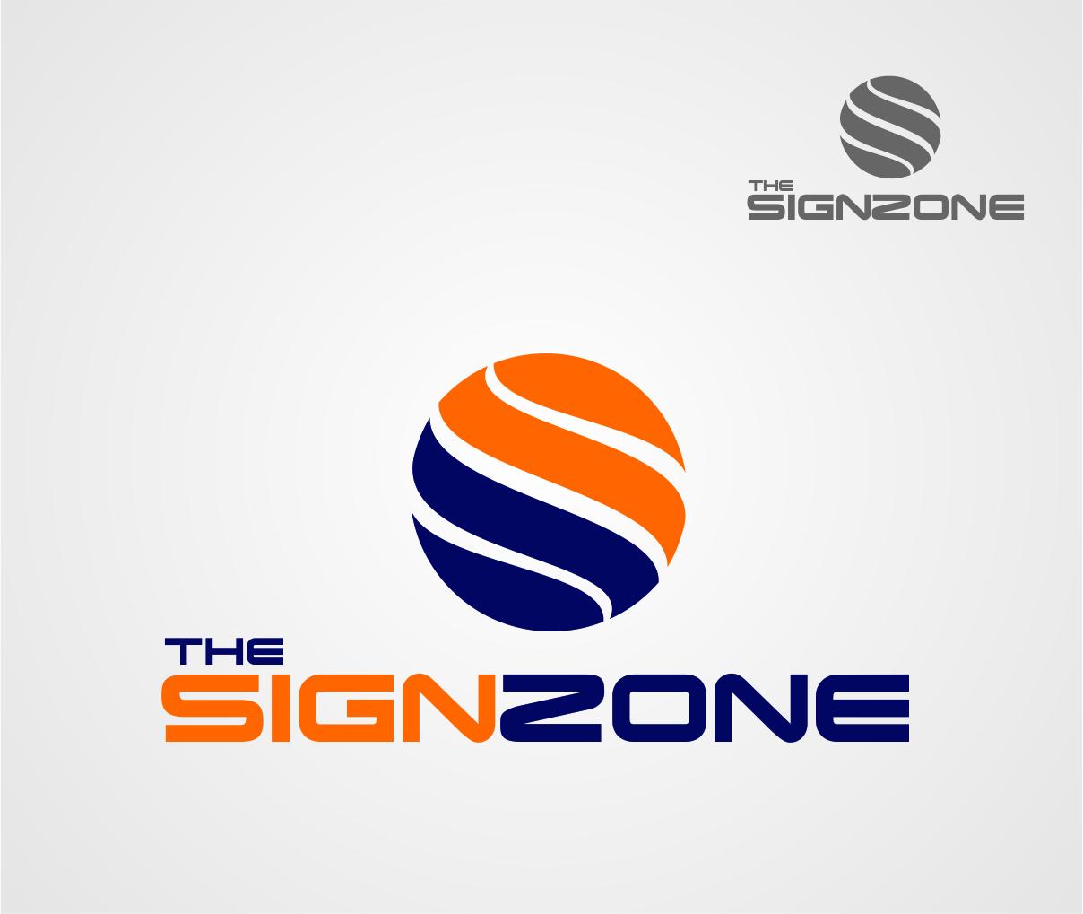 Logo Design by Reivan Ferdinan - Entry No. 19 in the Logo Design Contest Fun Logo Design for The Sign Zone.