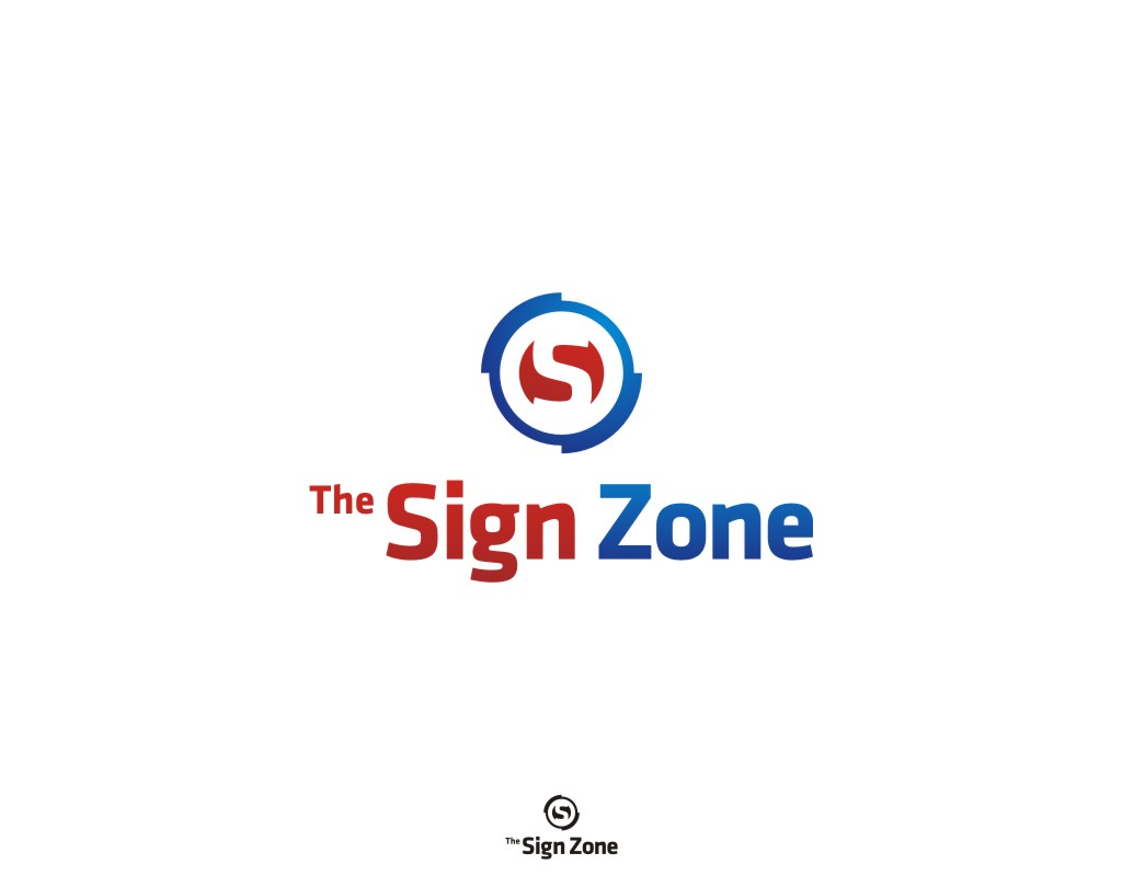 Logo Design by Private User - Entry No. 23 in the Logo Design Contest Fun Logo Design for The Sign Zone.