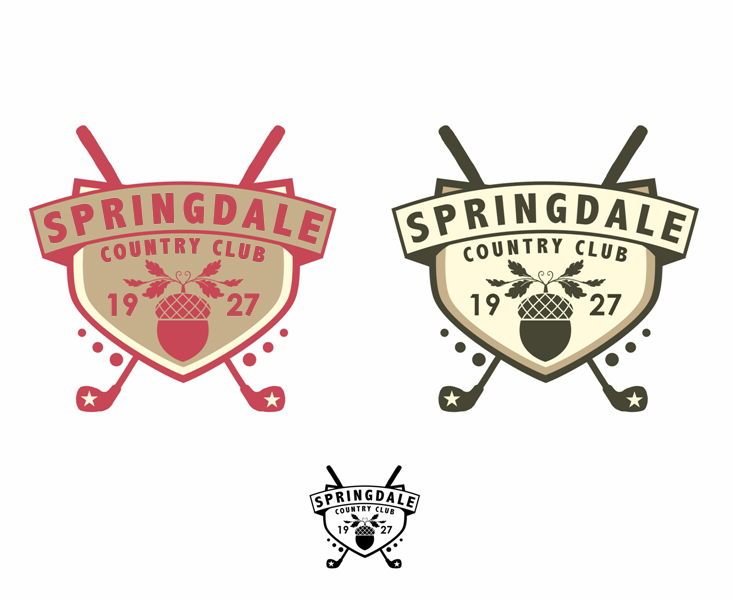 Logo Design by Juan_Kata - Entry No. 119 in the Logo Design Contest Unique Logo Design Wanted for Springdale Country Club.