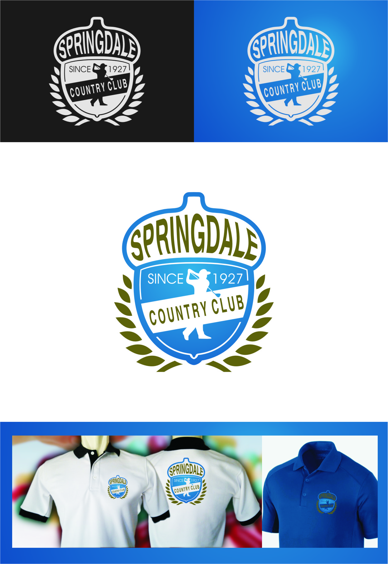 Logo Design by RasYa Muhammad Athaya - Entry No. 123 in the Logo Design Contest Unique Logo Design Wanted for Springdale Country Club.