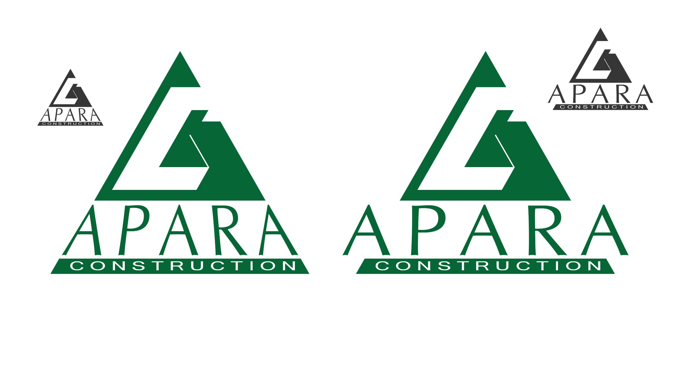 Logo Design by Cesar III Sotto - Entry No. 57 in the Logo Design Contest Apara Construction Logo Design.