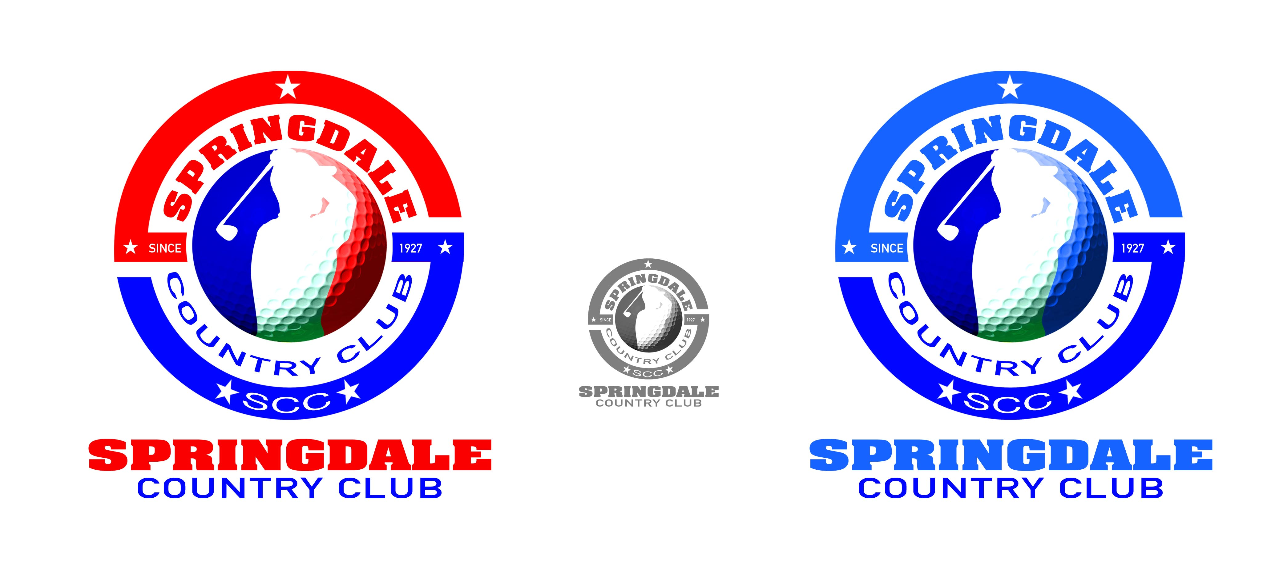 Logo Design by Cesar III Sotto - Entry No. 125 in the Logo Design Contest Unique Logo Design Wanted for Springdale Country Club.