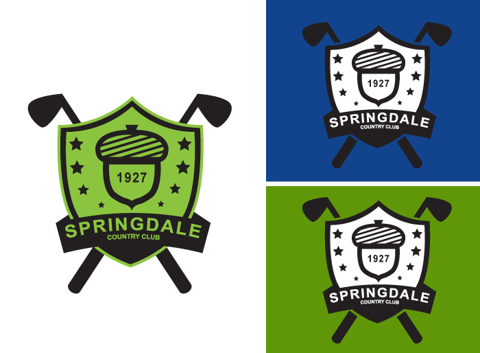 Logo Design by Jan Chua - Entry No. 127 in the Logo Design Contest Unique Logo Design Wanted for Springdale Country Club.