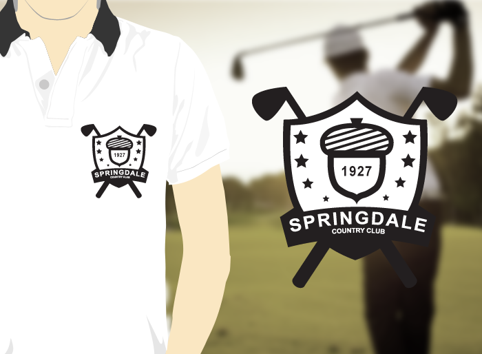 Logo Design by Jan Chua - Entry No. 128 in the Logo Design Contest Unique Logo Design Wanted for Springdale Country Club.