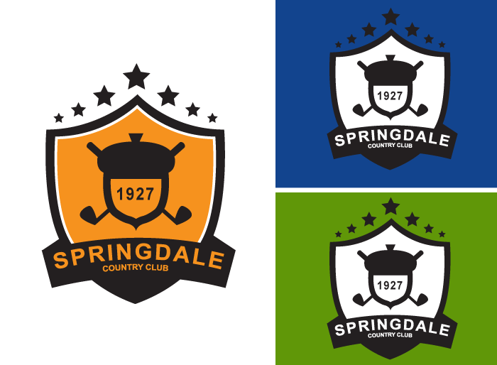 Logo Design by Jan Chua - Entry No. 130 in the Logo Design Contest Unique Logo Design Wanted for Springdale Country Club.