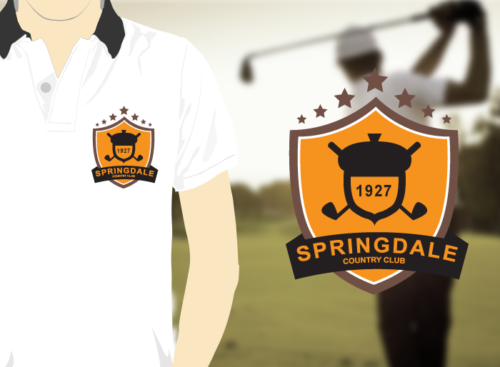 Logo Design by Jan Chua - Entry No. 132 in the Logo Design Contest Unique Logo Design Wanted for Springdale Country Club.