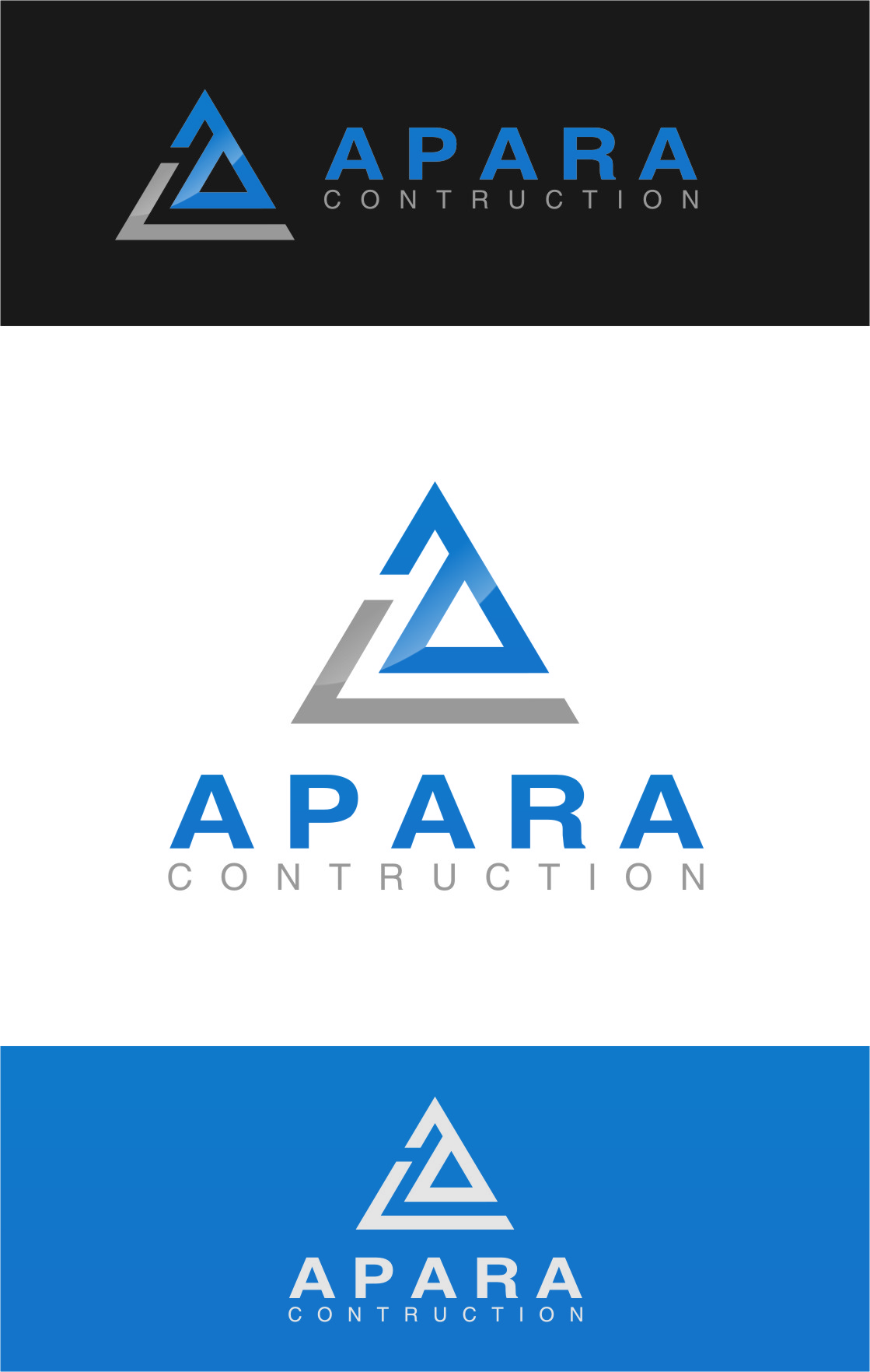 Logo Design by Ngepet_art - Entry No. 61 in the Logo Design Contest Apara Construction Logo Design.