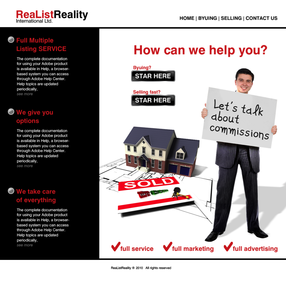 Web Page Design by limix - Entry No. 9 in the Web Page Design Contest Realist Realty International Ltd..