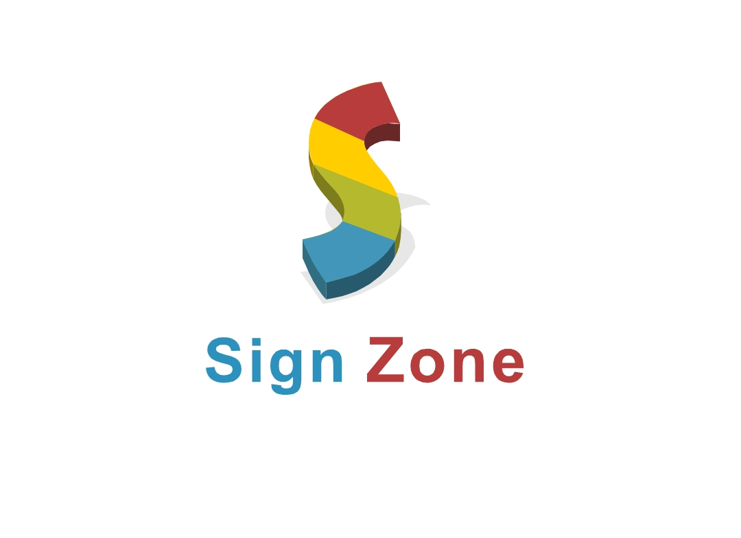 Logo Design by Marco Paulo Jamero - Entry No. 28 in the Logo Design Contest Fun Logo Design for The Sign Zone.