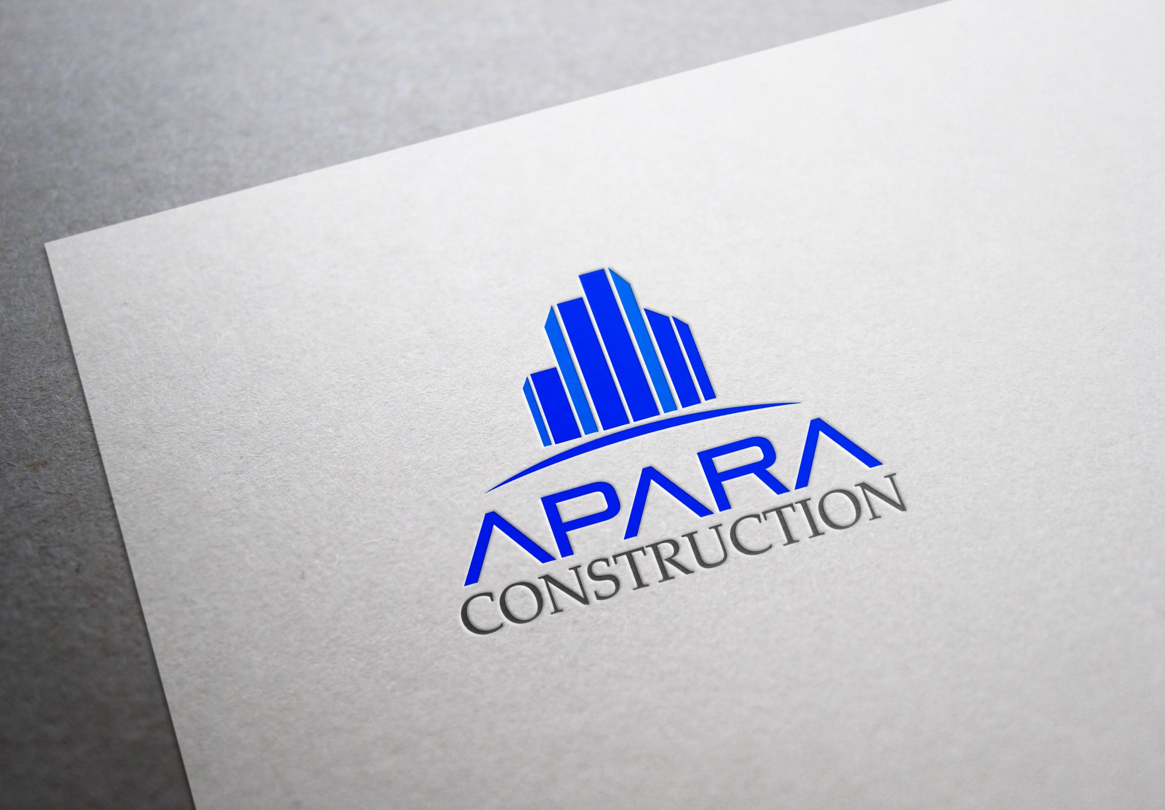 Logo Design by fireacefist - Entry No. 73 in the Logo Design Contest Apara Construction Logo Design.