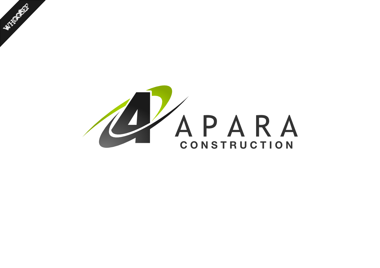 Logo Design by whoosef - Entry No. 74 in the Logo Design Contest Apara Construction Logo Design.