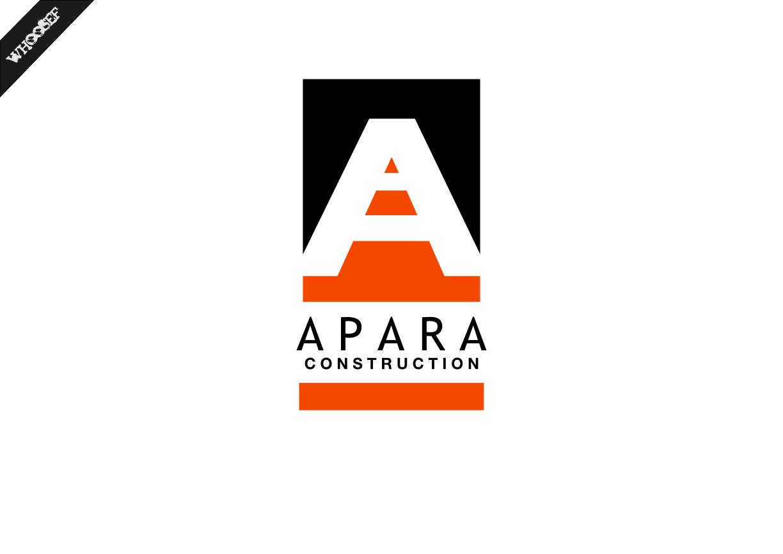 Logo Design by whoosef - Entry No. 76 in the Logo Design Contest Apara Construction Logo Design.