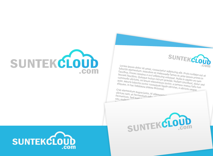 Logo Design by Jan Chua - Entry No. 28 in the Logo Design Contest Imaginative Logo Design for suntekcloud.com.