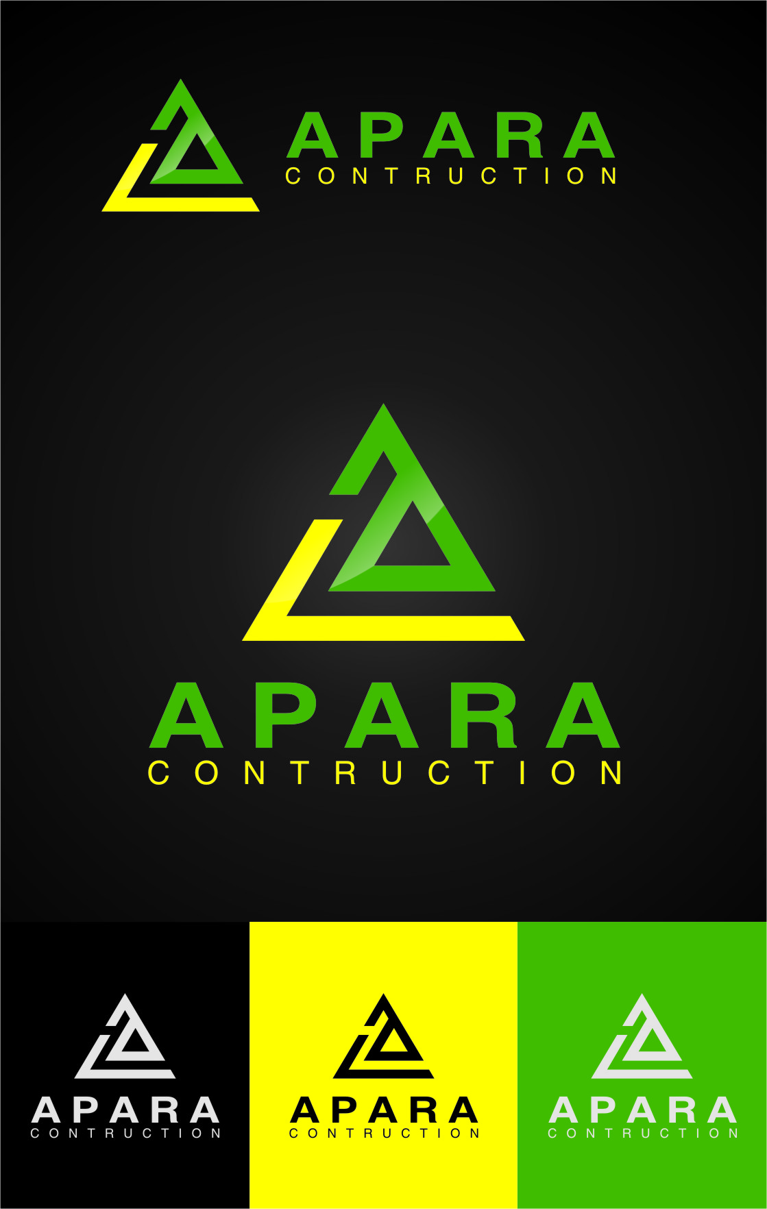 Logo Design by RasYa Muhammad Athaya - Entry No. 88 in the Logo Design Contest Apara Construction Logo Design.
