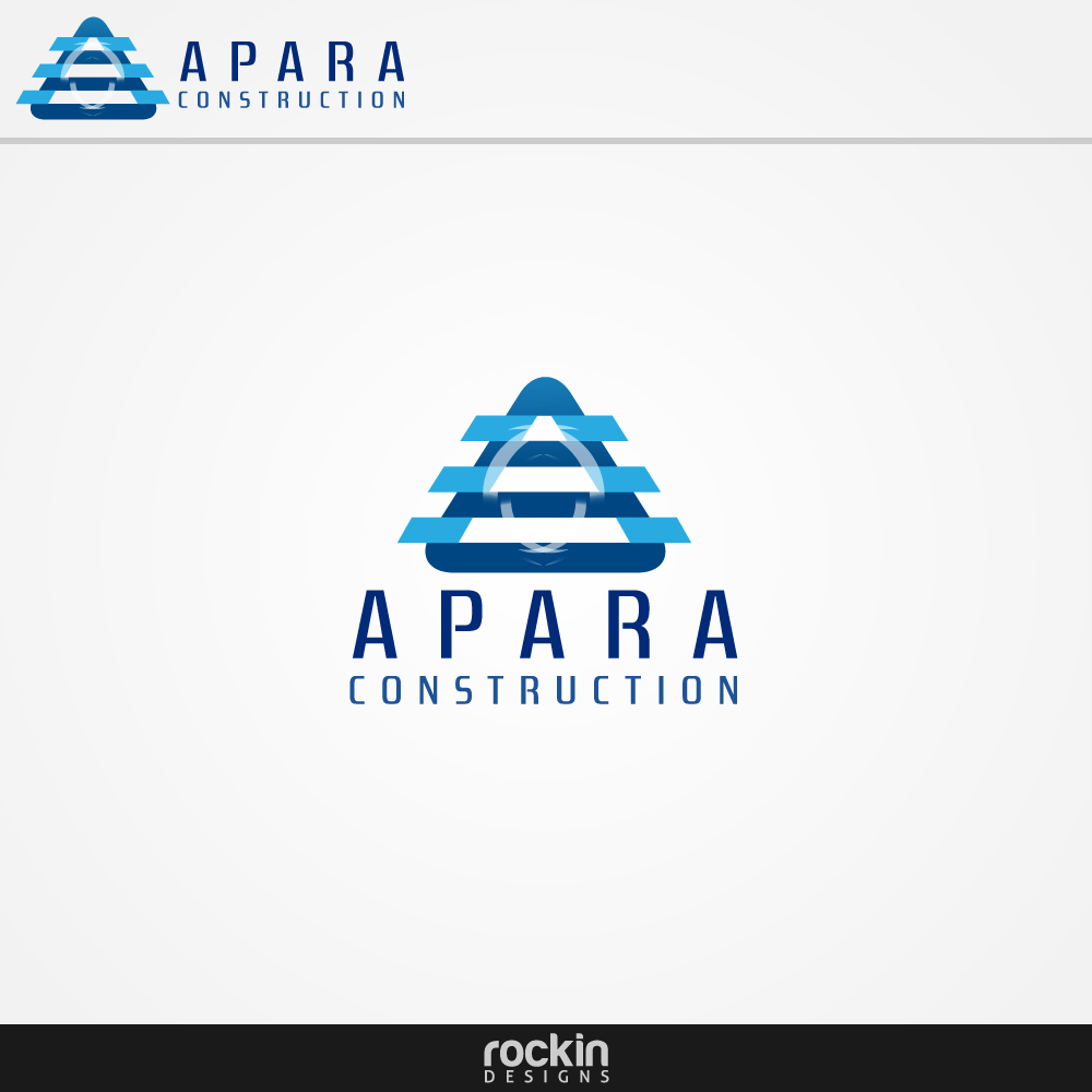 Logo Design by rockin - Entry No. 92 in the Logo Design Contest Apara Construction Logo Design.