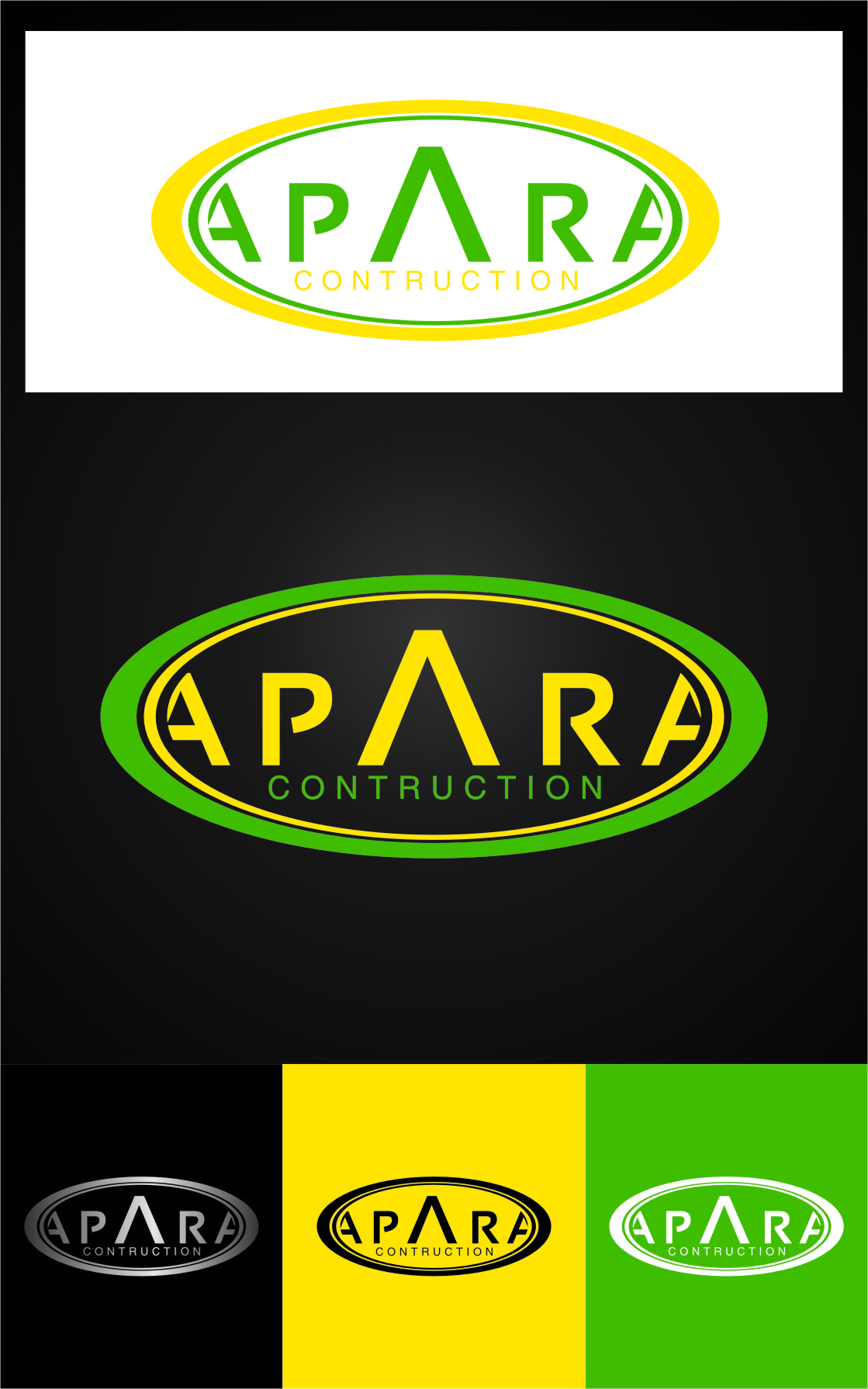 Logo Design by Ngepet_art - Entry No. 122 in the Logo Design Contest Apara Construction Logo Design.