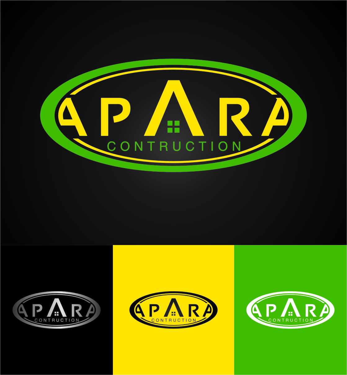 Logo Design by RasYa Muhammad Athaya - Entry No. 124 in the Logo Design Contest Apara Construction Logo Design.