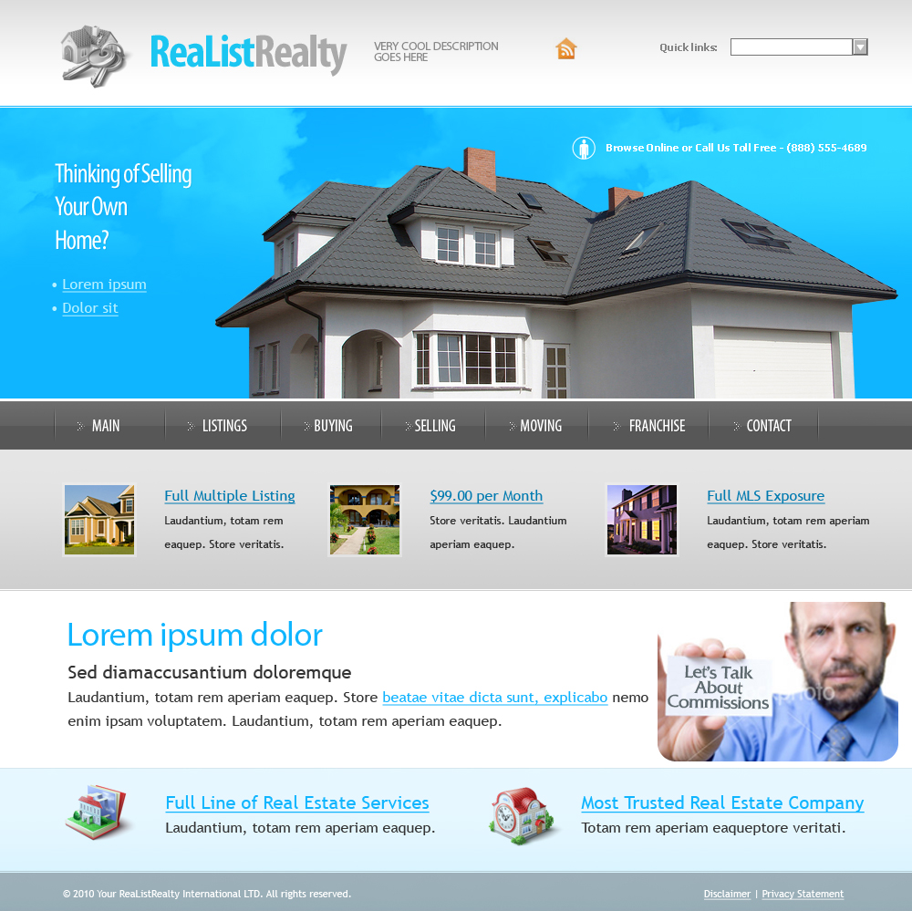 Web Page Design by jcmontero - Entry No. 14 in the Web Page Design Contest Realist Realty International Ltd..