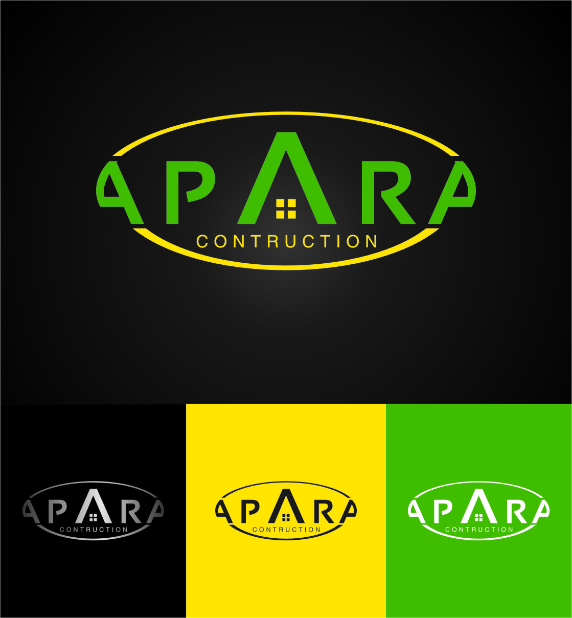 Logo Design by RasYa Muhammad Athaya - Entry No. 133 in the Logo Design Contest Apara Construction Logo Design.