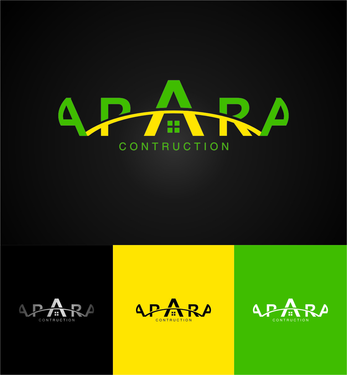 Logo Design by Ngepet_art - Entry No. 134 in the Logo Design Contest Apara Construction Logo Design.