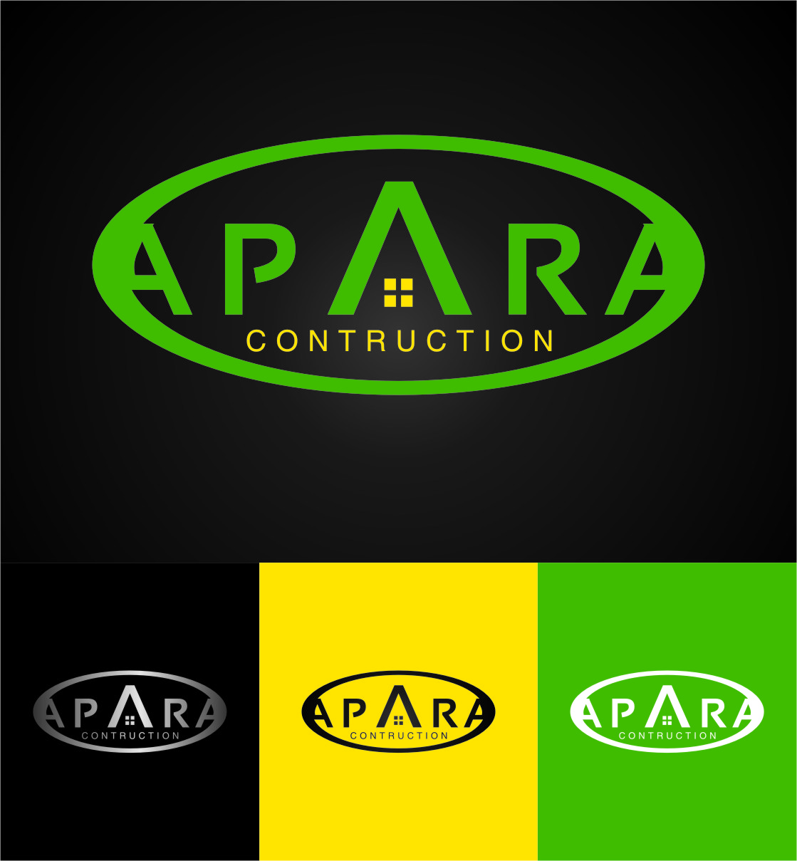 Logo Design by Ngepet_art - Entry No. 135 in the Logo Design Contest Apara Construction Logo Design.