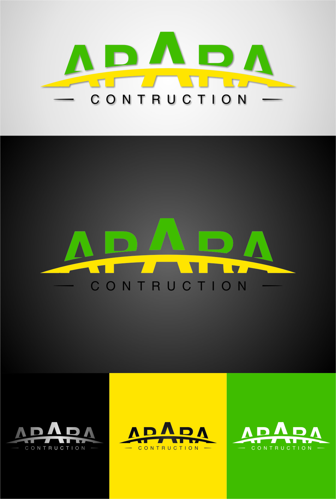 Logo Design by Ngepet_art - Entry No. 139 in the Logo Design Contest Apara Construction Logo Design.