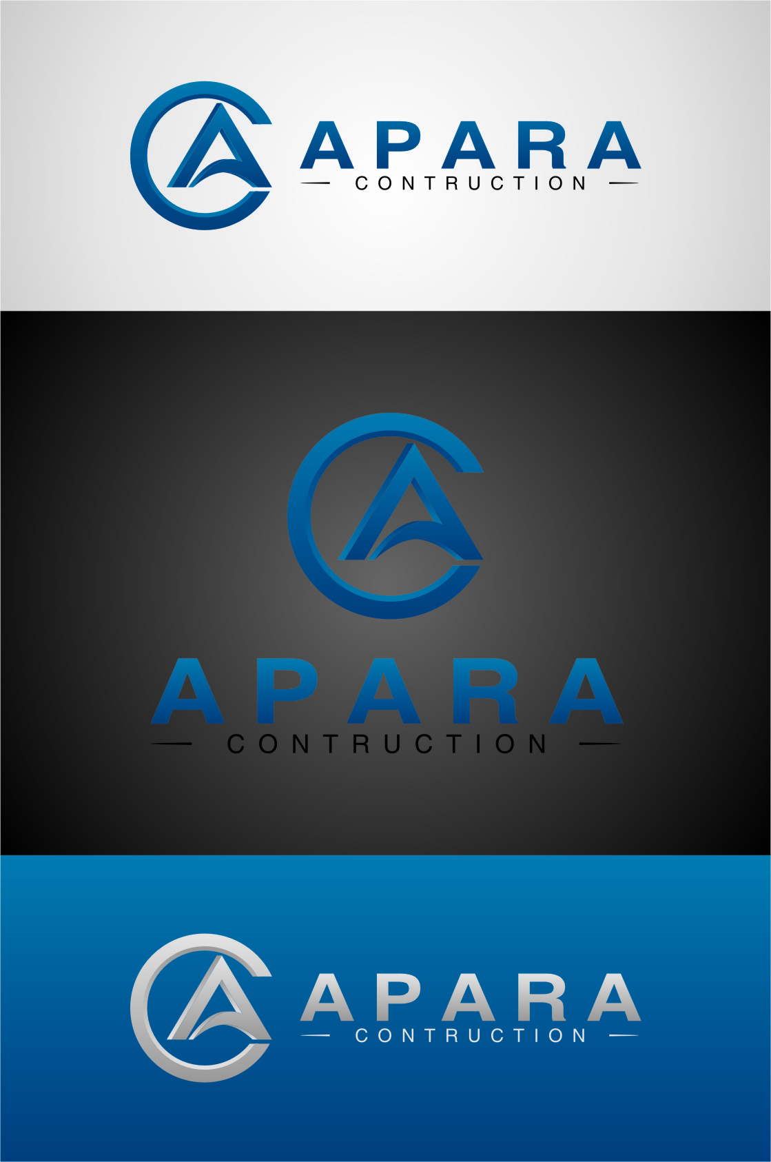 Logo Design by RasYa Muhammad Athaya - Entry No. 142 in the Logo Design Contest Apara Construction Logo Design.