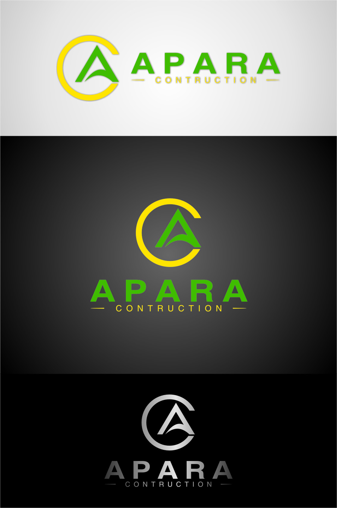 Logo Design by RasYa Muhammad Athaya - Entry No. 146 in the Logo Design Contest Apara Construction Logo Design.