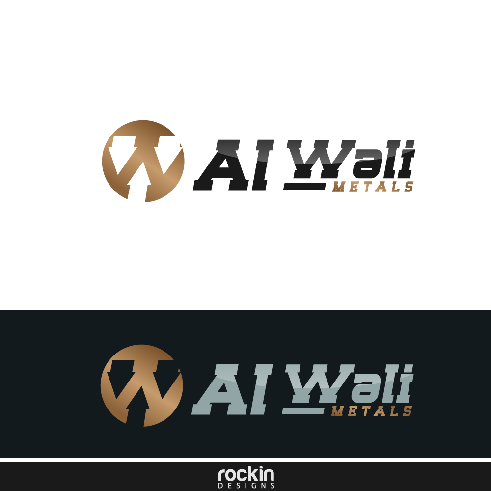 Logo Design by rockin - Entry No. 30 in the Logo Design Contest Inspiring Logo Design for Al Wali Metals.
