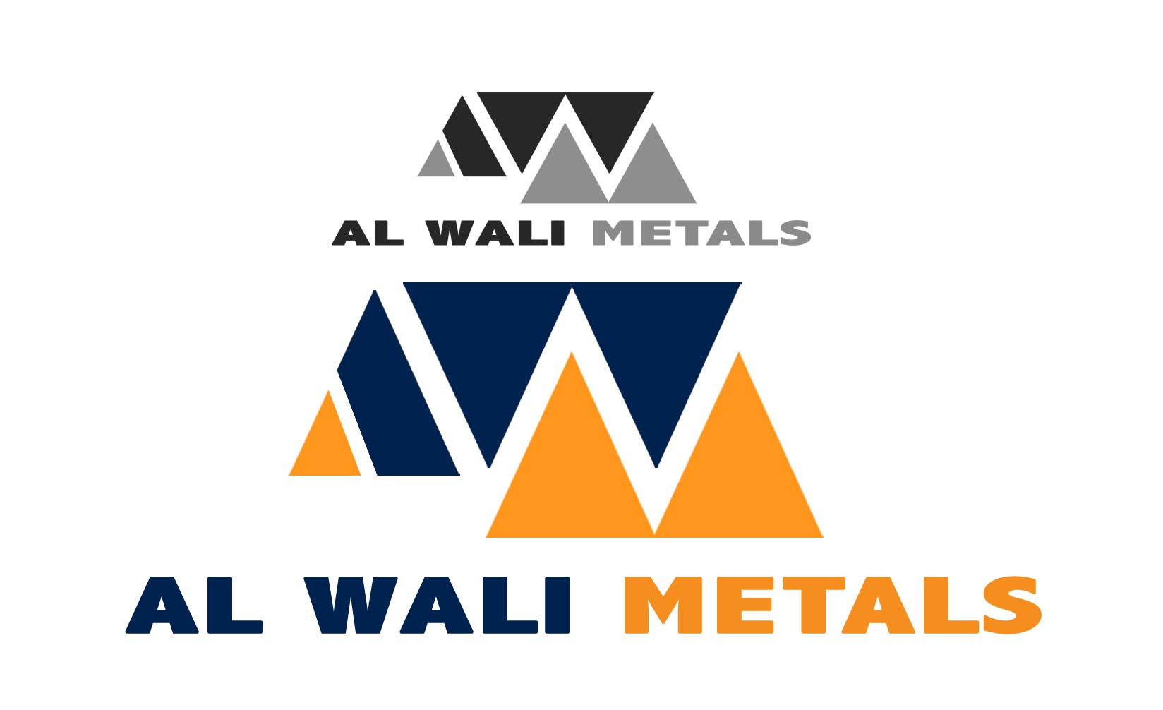 Logo Design by Cesar III Sotto - Entry No. 34 in the Logo Design Contest Inspiring Logo Design for Al Wali Metals.