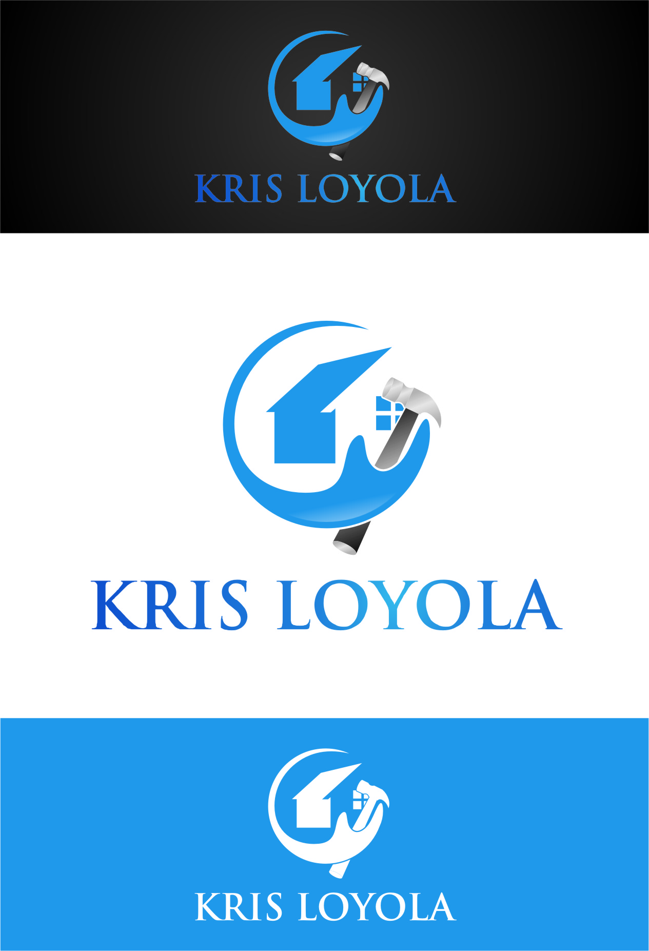 Logo Design by Ngepet_art - Entry No. 4 in the Logo Design Contest Kris Loyola Logo Design.