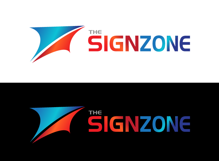 Logo Design by Jan Chua - Entry No. 60 in the Logo Design Contest Fun Logo Design for The Sign Zone.