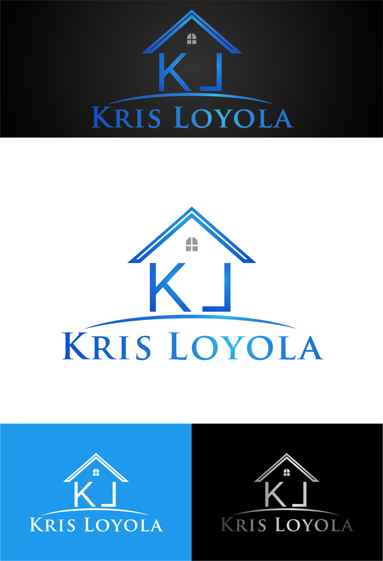 Logo Design by RasYa Muhammad Athaya - Entry No. 21 in the Logo Design Contest Kris Loyola Logo Design.