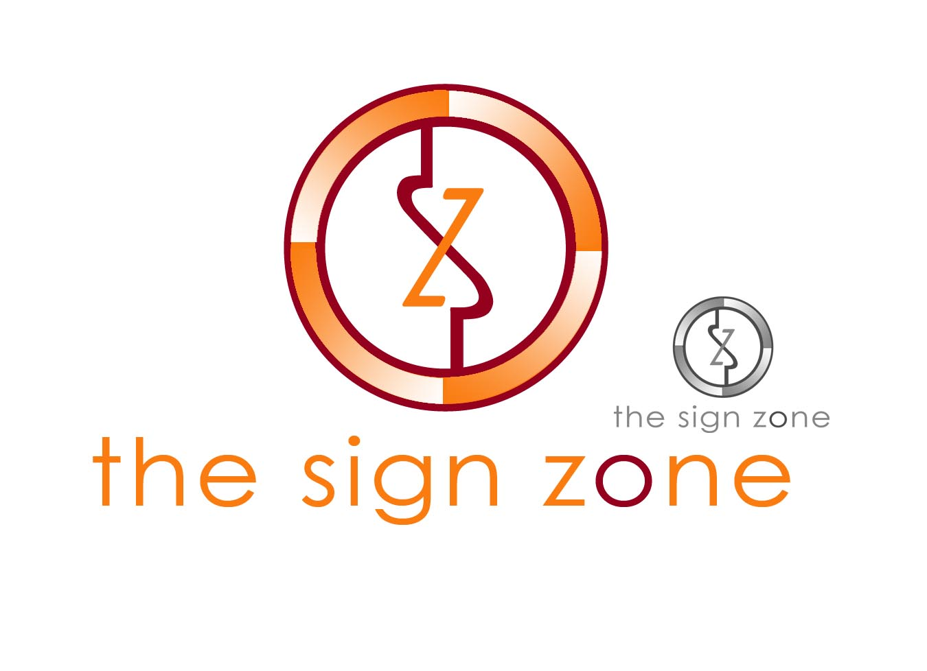 Logo Design by Cesar III Sotto - Entry No. 73 in the Logo Design Contest Fun Logo Design for The Sign Zone.