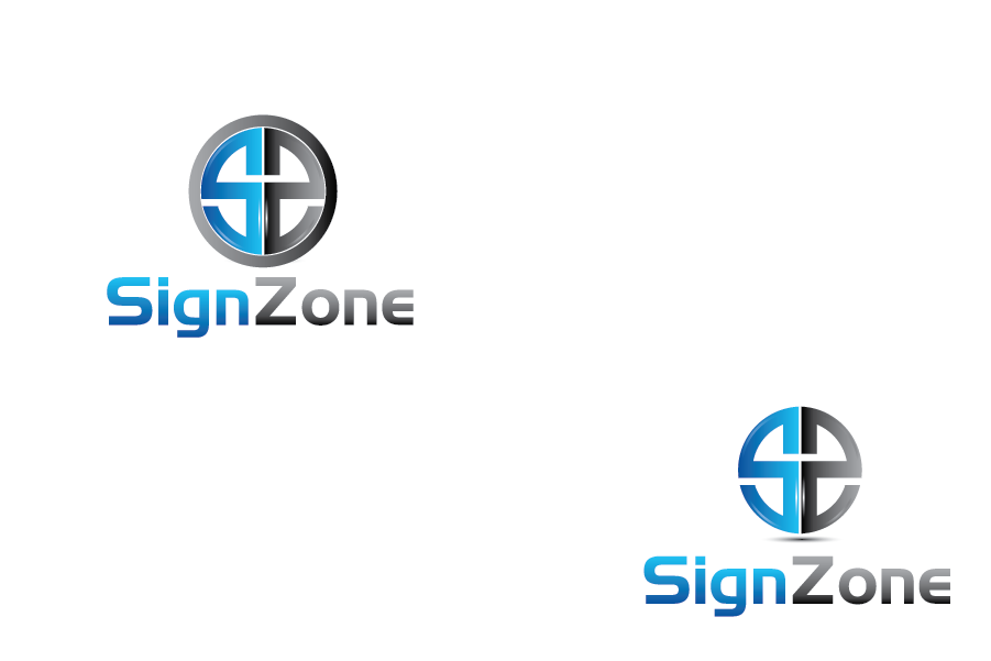 Logo Design by Private User - Entry No. 78 in the Logo Design Contest Fun Logo Design for The Sign Zone.