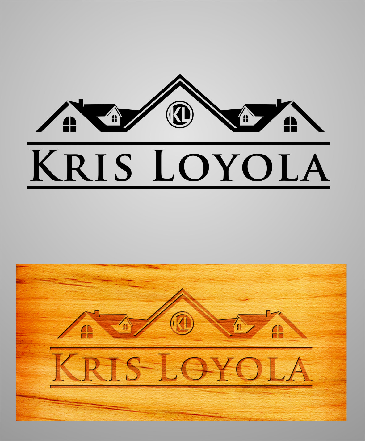 Logo Design by RoSyid Rono-Rene On Java - Entry No. 40 in the Logo Design Contest Kris Loyola Logo Design.