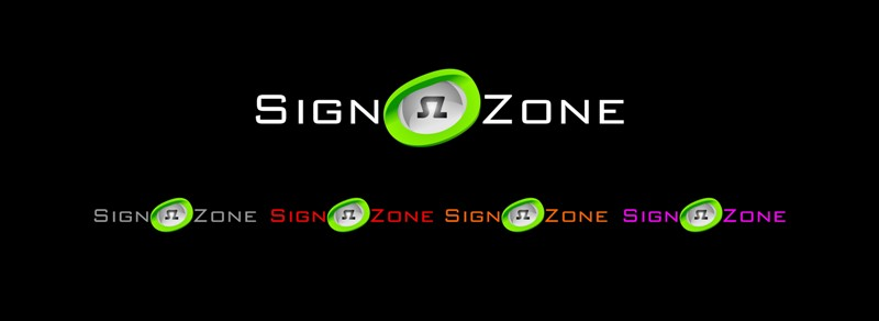 Logo Design by Crispin Jr Vasquez - Entry No. 88 in the Logo Design Contest Fun Logo Design for The Sign Zone.
