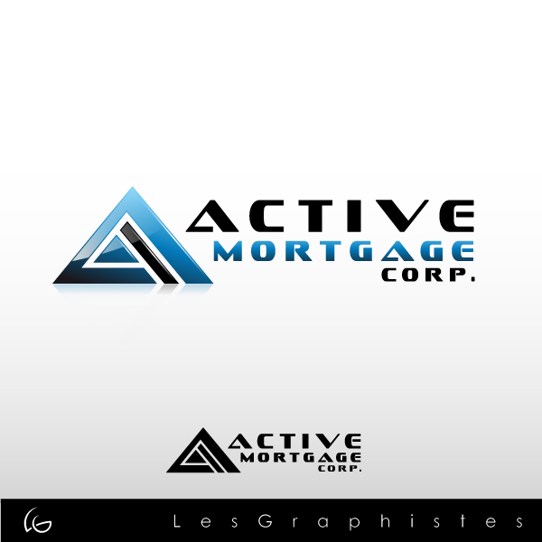 Logo Design by Les-Graphistes - Entry No. 102 in the Logo Design Contest Active Mortgage Corp..