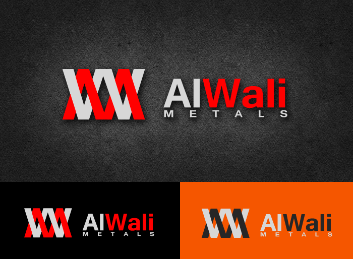 Logo Design by Jan Chua - Entry No. 68 in the Logo Design Contest Inspiring Logo Design for Al Wali Metals.