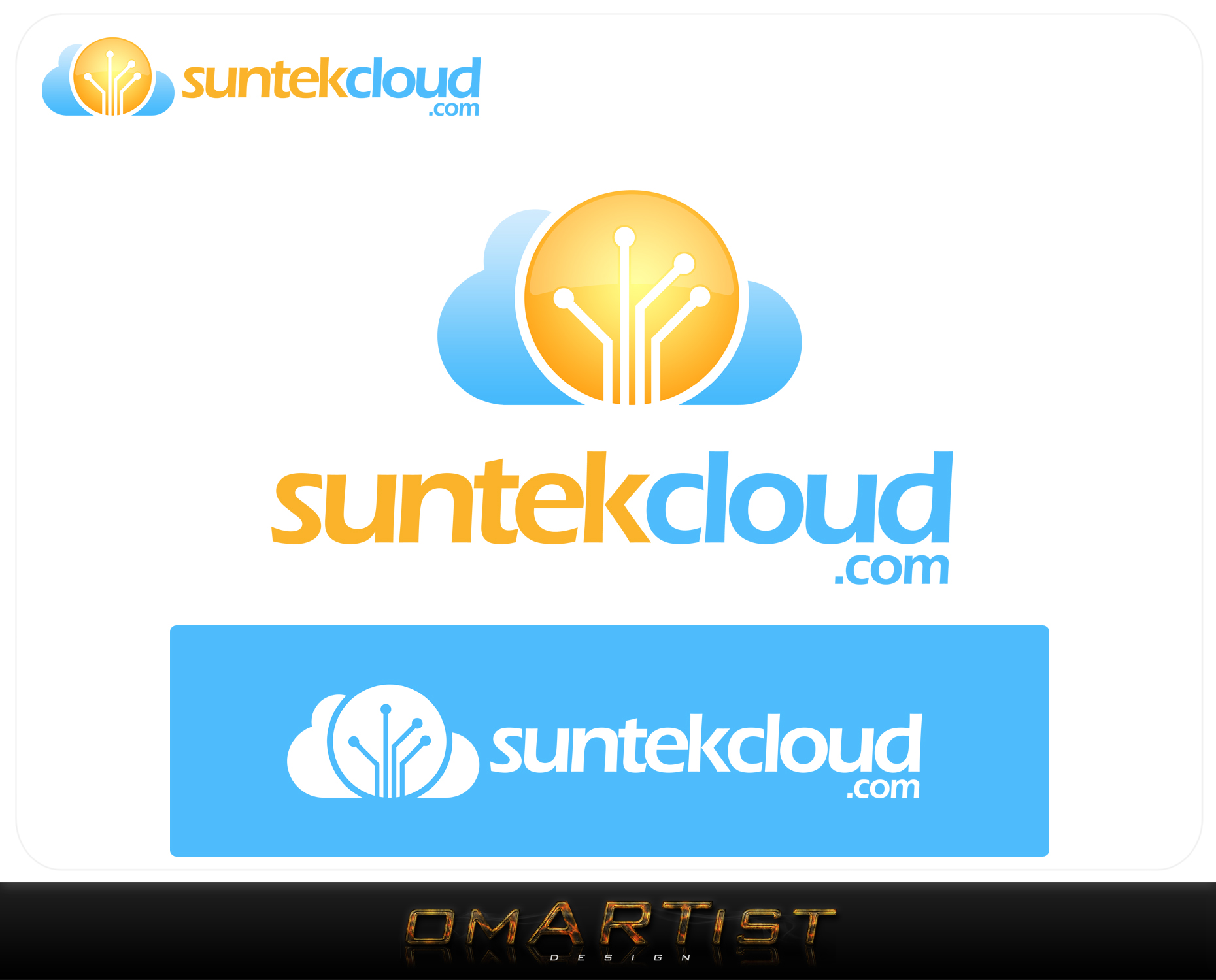 Logo Design by omARTist - Entry No. 113 in the Logo Design Contest Imaginative Logo Design for suntekcloud.com.